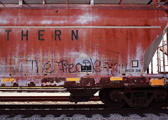 The People Will (jpmatth) Tags: color car digital train canon eos graffiti lenstagged illinois mk2 5d hopper taylorville 2013 ef40mm28stm thepeoplewill