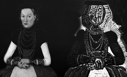 """Representación de Dama de la Nobleza, de Lucas Cranach el Joven (1564), ilustración y paráfrasis de Pablo Picasso (1958). • <a style=""""font-size:0.8em;"""" href=""""http://www.flickr.com/photos/30735181@N00/8746772457/"""" target=""""_blank"""">View on Flickr</a>"""