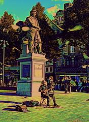 Amsterdam 2013 (Berliner08) Tags: people holland netherlands amsterdam leute gente nederland holanda paysbas gens noordholland niederlande hollande rembrandplein piasesbajos