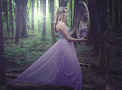 Happily Ever After ({peace&love}) Tags: wood trees summer girl sarah forest mirror dress princess fairy prom magical tale pinkparis1233