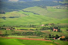 The Green Rolling Hills of Tuscany (Crumblin Down) Tags: plaza rome green tower classic church stone town ancient ruins theater arch theatre roman basilica seat hill volterra entrance medieval cobble cobblestone column piazza seating vampires etruscan hilltown tuscana volturi