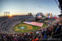 The Perfect Moment (Greg - AdventuresofaGoodMan.com) Tags: nyc usa newyork baseball americanflag queens sunburst asg flyover pregame allstargame militaryhelicopter mlballstargame citifield 2013mlballstargame