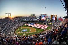 The Perfect Moment (Greg - AdventuresofaGoodMan.com) Tags: nyc usa newyork baseball americanflag queens sunburst asg flyover pregame allstargame militaryhelicopter mlballstargame citifield 2013mlballstargame