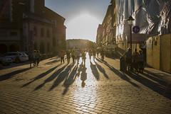 Sunset (Maciek Szul) Tags: street light summer sun photography golden photo nikon poland polska hour z krakw cracow tam d80 powrotem autobusem