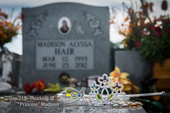 Day 215- Thinking of Princess Madison . . . (Wishard of Oz) Tags: grave funeral madison mah day215 project365 2013yip 365the2013edition 365in2013 3aug13 day20422192