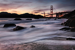 The Golden Gate Bridge - After Sunset (Andrew Louie Photography) Tags: golden gate bridge marshall beach sunset san francisco night falls summer june jazz california sf canon photography passion camera life fun coffee landsc seascape waves long exposure