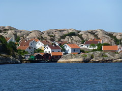 Village snuggled into the rocks (prondis_in_kenya) Tags: roof sea summer house rock island village midsummer sweden archipelago bohusln lysekil