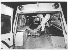 """Due to recent economic changes it appears we will be going back to the old H & H """"A-4"""" Anyone know what year this is? or even better Who is in the ambulance? (Boston EMS Relief Association) Tags: boston ambulance medical emergency medic paramedic ems emt services"""