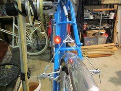 Tail Lamp Lit (jimgskoop) Tags: blue bicycle cycling pelican custom racks randonneur boxdogbikes 2013 bdb eyefi