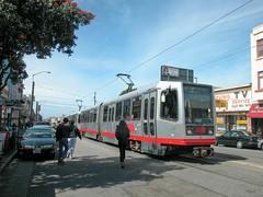 20050320 03 Irving St.  @ 7th Ave (davidwilson1949) Tags: sanfrancisco california street light muni lightrail revitalization railurban transitthird