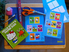 Making new sticker album pages (Jay Tilston) Tags: hello scrapbook paper book sticker kiss album kitty craft story homemade page diecut