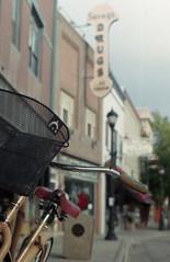 Bicycle and drug store, Buffalo, WY (wyoanalogmatt) Tags: camera film historic bicycles wyoming drugstore fuji200 yashica oldbuilding 200speed yashicaj5