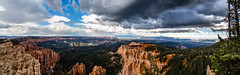 Bryce Canyon National Park - Rainbow Point Panorama (Morton Rainey) Tags: park blue red usa rock point utah nationalpark rainbow hiking bluesky national hoodoo bryce brycecanyon rainbowpoint utahrocks