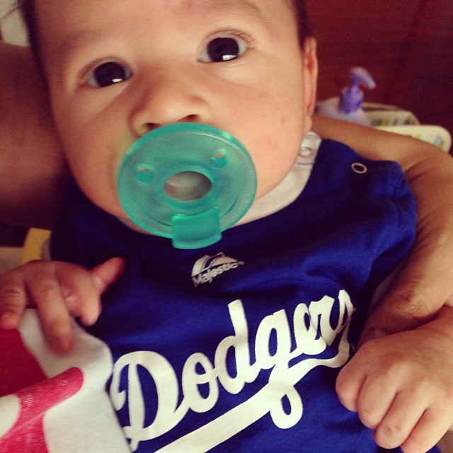 He's ready for the playoffs. Go #Dodgers! @dodgers