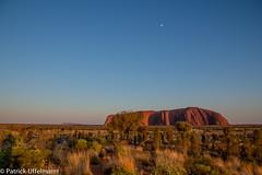 Uluru with Moon (patuffel) Tags: moon rock under australia down outback uluru australien ayers olgas downunder