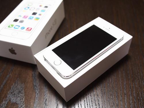 iPhone5s、開封
