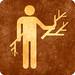Sepia Grunge Sign - Wood Gathering