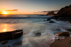 Azkorri (saki_axat) Tags: sunset sun seascape beach nature landscape atardecer rocks waves shoreline coastal azkorri