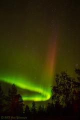 Aurora Spike (janiylinampa) Tags: red sky green night suomi finland lights rovaniemi aurora lapland northern northernlights auroraborealis borealis lappi nordlys nordlicht revontulet norvajärvi