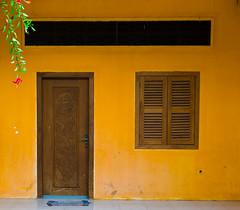 Orange (57Andrew) Tags: door leica orange house wall cambodia shutters kampot morningwalk m9 hothumid
