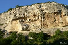 Бахчисарай, Свято-Успенский пещерный монастырь, вид напротив