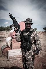 "Dav ""MacTavish"" (II) (JF Sebastian) Tags: portrait field friend barrels weapon battlefield airsoft bleachbypass morethan100visits morethan250visits protectionvest fujifilmxe11855"