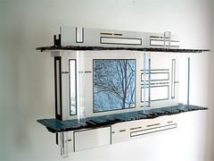 Cathédrale d'arbres ( 2011 ) . Plexy, mosaïques, peintures, photo, papier aquarelle. (emmanuelviard75) Tags: mosaique murile plexy