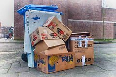 Thursday, paper pick-up (glukorizon) Tags: street trash paper garbage box container sidewalk cardboard packaging waste vignetting papier hdr highdynamicrange trottoir stoep karton straat odc wastecontainer vuilnis verpakking doos odc1 afvalcontainer vignettering signedsealeddelivered ourdailychallenge