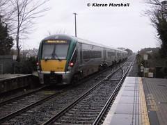 22039 departs Portlaoise, 20/12/13 (hurricanemk1c) Tags: irish train rail railway trains railways irishrail rok rotem portlaoise 22039 icr iarnród 2013 22000 éireann iarnródéireann premierclass 6pce 1420portlaoiseheuston