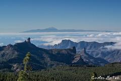 Cumbres Canarias (Carlos_Mateo) Tags: grancanaria paisaje cielo nubes tenerife teide isla j2 pinar roquenublo bentayga cumbre nikon1