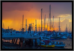 Sunset over Scarborough Marina-01=