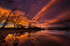 Banded (Bill Bowman) Tags: night sunrise colorado cloudy cootlake cloudsstormssunsetssunrises