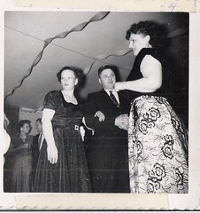 looking up at the party (912greens) Tags: decorations women parties style 1940s dresses streamers folksidontknow