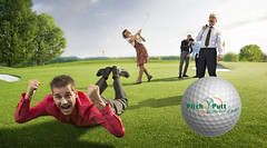 P&P_HQ_HOLE-IN_ONE met golfbal