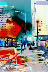 Sensing City (Annette LeDuff) Tags: urban streets detroit inverted favorited shotinthedark digitallyaltered detroitmi quantumentanglement photoannetteleduff annetteleduff leduffcameraart 02092014 vision:outdoor=0768