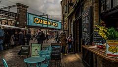 Camden Market (LeePellingPhotography.co.uk) Tags: street trip bridge blue light people london table chairs market lock camden seats deb