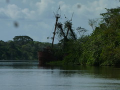 Wrecked Ships of Old Harbor on Suriname River