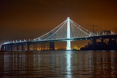 Bay Bridge at Night-002 (World-viewer) Tags: sanfrancisco california park bridge reflection water beautiful skyline night landscape island golden bay gate san francisco treasure view none fort sony scenic trails landmarks landmark east trail views goldengate area vista sfbayarea alpha span 6000 sfbay recreational eastspan a a6000 alpha6000 ilce6000