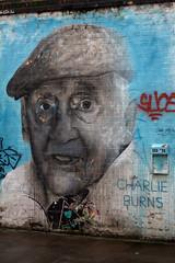 Charlie Burns (Toru_Okada) Tags: streetart man london wall hats charlie burns shoreditch