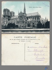 PARIS - Eglise Notre-Dame (bDom) Tags: paris 1900 oldpostcard cartepostale bdom