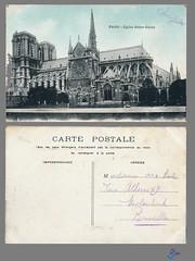 PARIS - Eglise Notre-Dame (bDom [+ 3 Mio views - + 40K images/photos]) Tags: paris 1900 oldpostcard cartepostale bdom