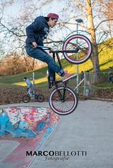 DSC_2047 (MarcoBellotti) Tags: color bike bicycle sport happy nikon colore skaters crew skatepark skate d750 biker skater felice stunt racer acrobatic bicicletta felicit acrobatico