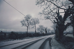 snow down the road (viewsfromthe519) Tags: road trees ireland winter dublin snow cold january fingal