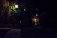 Lamplight - Take 2! (Jonny Rowlands) Tags: cambridge light snow building college lamp night dark university path jesus ivy fantasy narnia lamplight