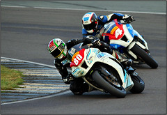ag 0006a (Phil Newell) Tags: mike booth grand down racing motorbike knee motorracing johny racer anglesey cornering blackshaw angleseycircuit