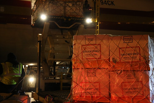 Ebola Facility Modules, Direct Relief, Airlift, LAX 116