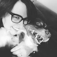 Me and my sweet buddy. #dogstagram #aussienation #aussiesofinstagram #australianshepherd (Sarah S. Moon) Tags: moon square squareformat iphoneography instagramapp uploaded:by=instagram