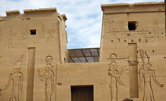 Egypt (Aswan) Ancient Egyptian Gods (ustung) Tags: brick architecture temple outdoor egypt aswan egyptiangods phlaie