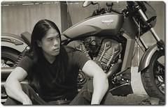 model & bike (Vince K.) Tags: portrait philadelphia k model photographer vince cycle motor photographybyvincek