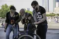 WWII veteran (Lyutik966) Tags: park people woman man moscow wheelchair award victory medal hero veteran officer